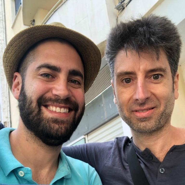 Escritores Álvaro Redondo y José Vicente Alfaro